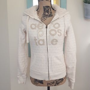 Aeropostale faux fur hooded jacket